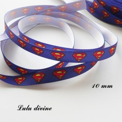 Ruban bleu Logo Superman de 10 mm