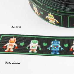 Ruban noir Robot de 25 mm