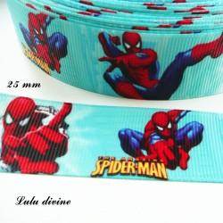 Ruban bleu Spiderman Homme araignée de 25 mm