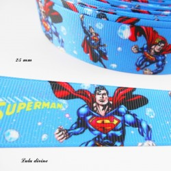 Ruban bleu Superman Super héros de 25 mm