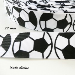 Ruban blanc Ballon de foot / Football de 22 mm