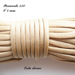 Paracorde 4 mm : Beige