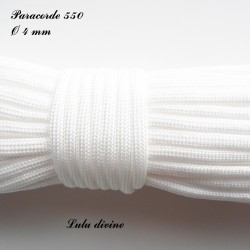 Paracorde 4 mm : Blanc