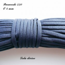 Paracorde 4 mm : Bleu marine