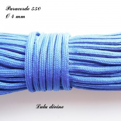 Paracorde 4 mm : Bleu roi