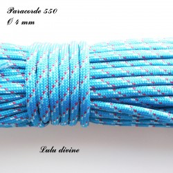 Paracorde 4 mm : Bleu Rouge Blanc