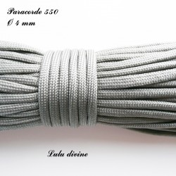 Paracorde 4 mm : Gris Anthracite
