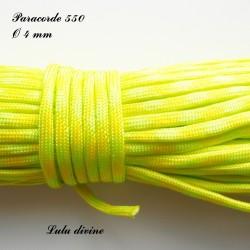 Paracorde 4 mm : Jaune & Vert fluo
