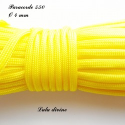 Paracorde 4 mm : Jaune