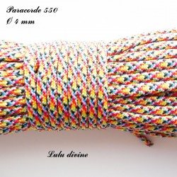 Paracorde 4 mm : Multicolore