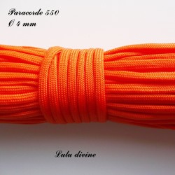Paracorde 4 mm : Orange