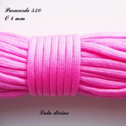 Paracorde 4 mm : Rose