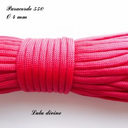 Paracorde 4 mm : Rouge
