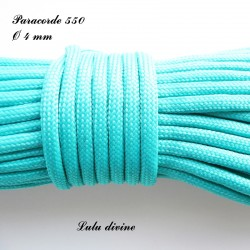 Paracorde 4 mm : Turquoise
