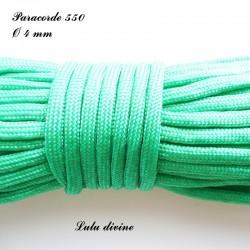 Paracorde 4 mm : Vert