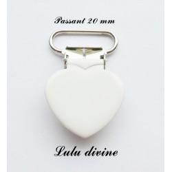 Pince cœur blanc