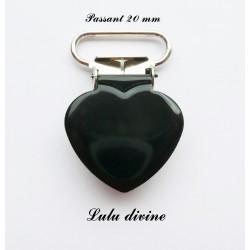 Pince cœur noir