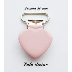 Pince cœur rose clair