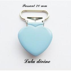 Pince cœur bleu clair