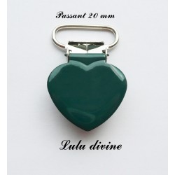 Pince cœur vert foncé
