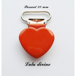 Pince cœur orange