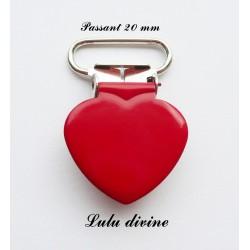 Pince cœur rouge