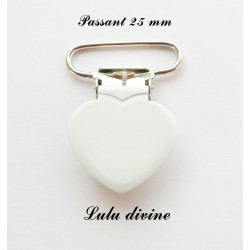 Pince coeur 25 mm Blanche