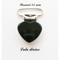 Pince coeur 25 mm Noire