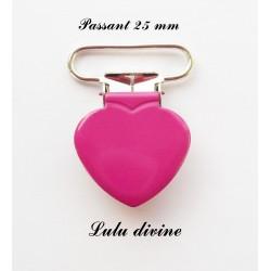 Pince coeur 25 mm Rose