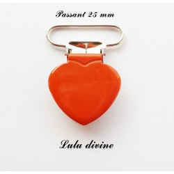 Pince coeur 25 mm Orange