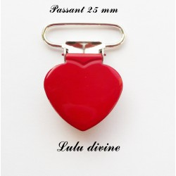 Pince coeur 25 mm Rouge
