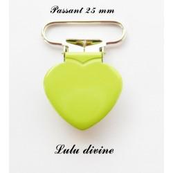 Pince coeur 25 mm Vert