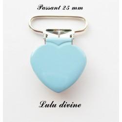 Pince coeur 25 mm Bleu clair