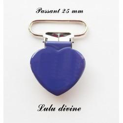Pince coeur 25 mm Bleu marine