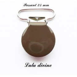 Pince ronde 25mm marron