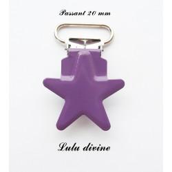 Pince étoile violet