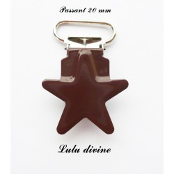 Pince étoile marron