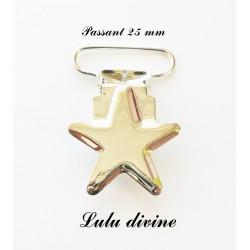 Pince étoile métal
