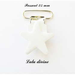 Pince étoile blanc