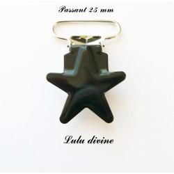 Pince étoile 25 mm Noire