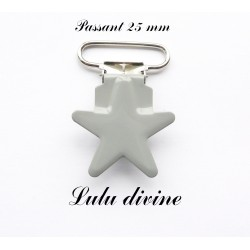 Pince étoile 25 mm Gris