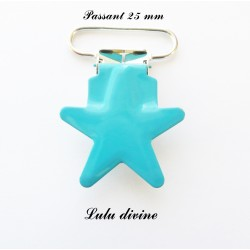 Pince étoile turquoise