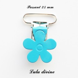 Pince fleur 25 mm Turquoise