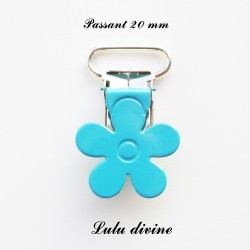 Pince fleur 20 mm Turquoise