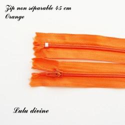 Fermeture éclair 45 cm Orange