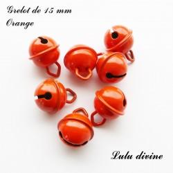 Grelot 15 mm : Orange
