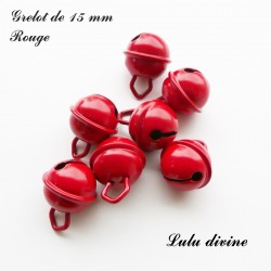 Grelot 15 mm : Rouge