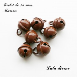 Grelot 15 mm : Marron