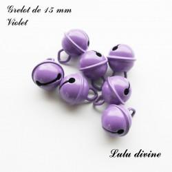 Grelot 15 mm : Violet