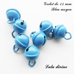 Grelot 15 mm : Bleu moyen